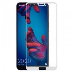 Protector Pantalla Cristal Templado Huawei P20 (FULL 3D Blanco)