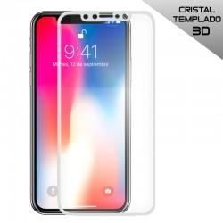 Protector Pantalla Cristal Templado iPhone X / iPhone XS (3D Blanco)