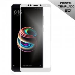 Protector Pantalla Cristal Templado Xiaomi Redmi 5 Plus (3D Blanco)