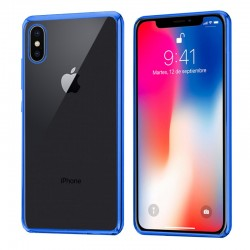 Carcasa iPhone X / iPhone XS Borde Metalizado (Azul)