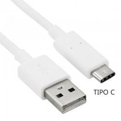 Cable USB Compatible Universal TIPO-C (1 metro) Blanco