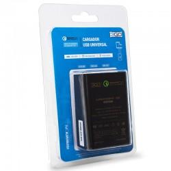 Cargador Universal Entrada 3 x USB (Carga Rápida) 3GO