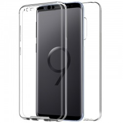 Funda Silicona 3D Samsung G965 Galaxy S9 Plus (Transparente Frontal + Trasera)